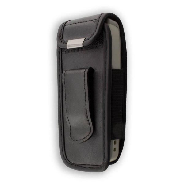 caseroxx Leather-Case with belt clip for Nokia 1110 / 1110i / 1112 made of genuine leather, mobile phone cover in black