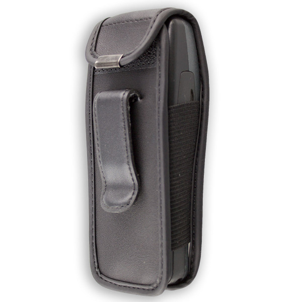 caseroxx Leather-Case with belt clip for Nokia 3210 made of genuine leather, mobile phone cover in black