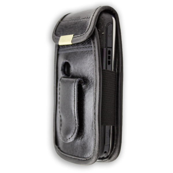 caseroxx Leather-Case with belt clip for Nokia 6233 / 6234 made of genuine leather, mobile phone cover in black