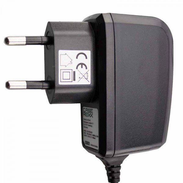 caseroxx charger Navigation device charger for Garmin,ZTE nüvi 765TFM, high quality charger with charger for charging (flexible, stable cable in black)