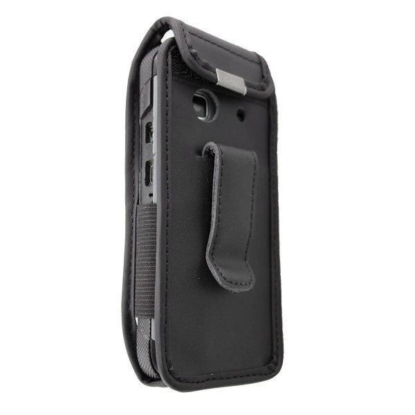 caseroxx Leather-Case with belt clip for Doro 540X made of genuine leather, mobile phone cover in black
