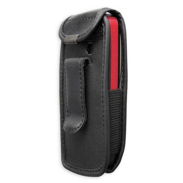 caseroxx Leather-Case with belt clip for AEG Voxtel M311 made of genuine leather, mobile phone cover in black