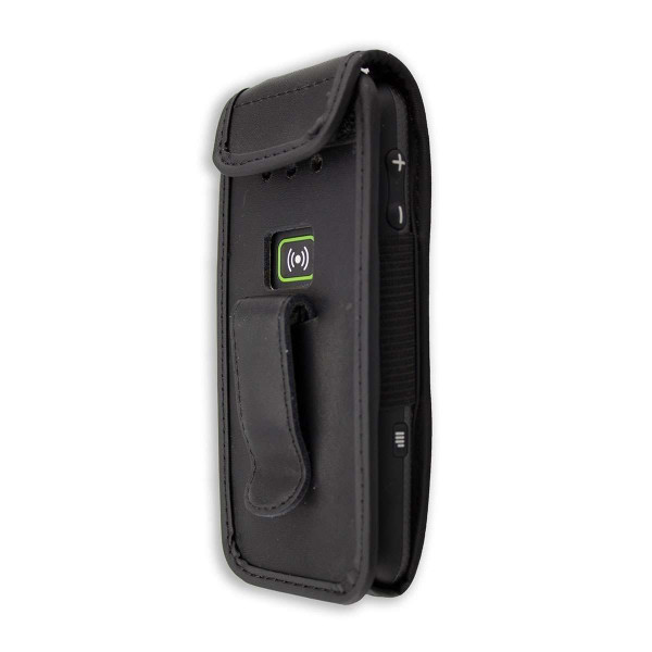 caseroxx Leather-Case with belt clip for Doro Secure 580 / 580IUP made of genuine leather, mobile phone cover in black