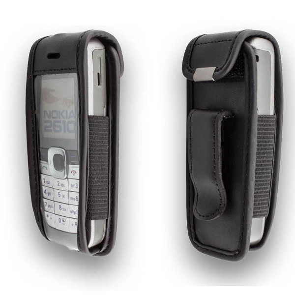 caseroxx Leather-Case with belt clip for Nokia 2610 / 2626 made of genuine leather, mobile phone cover in black