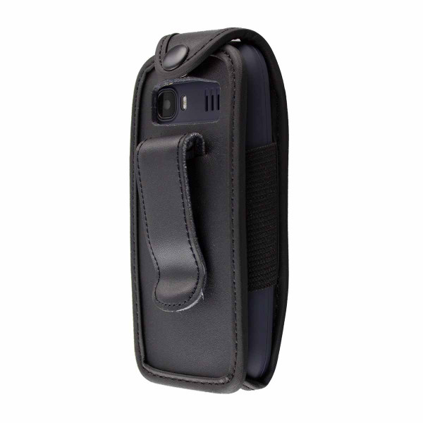 caseroxx Leather-Case with belt clip for Archos Core 18F made of genuine leather, mobile phone cover in black