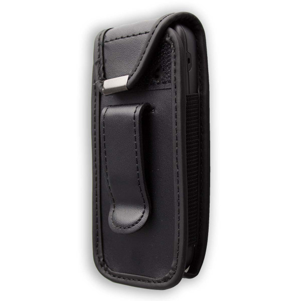 caseroxx Leather-Case with belt clip for Nokia 100 / 101 made of genuine leather, mobile phone cover in black