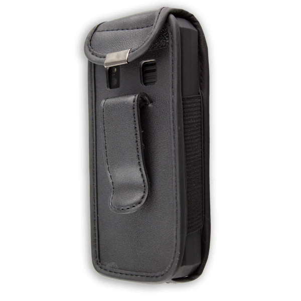 caseroxx Leather-Case with belt clip for Cat B30 made of genuine leather, mobile phone cover in black