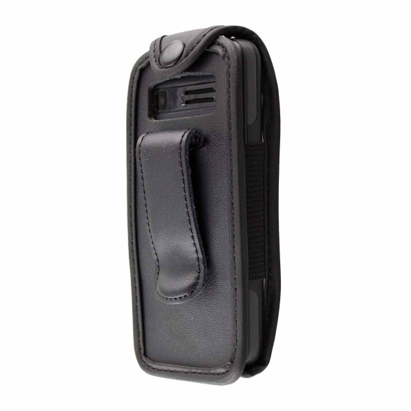 caseroxx Leather-Case with belt clip for Kazam Life B2 made of genuine leather, mobile phone cover in black