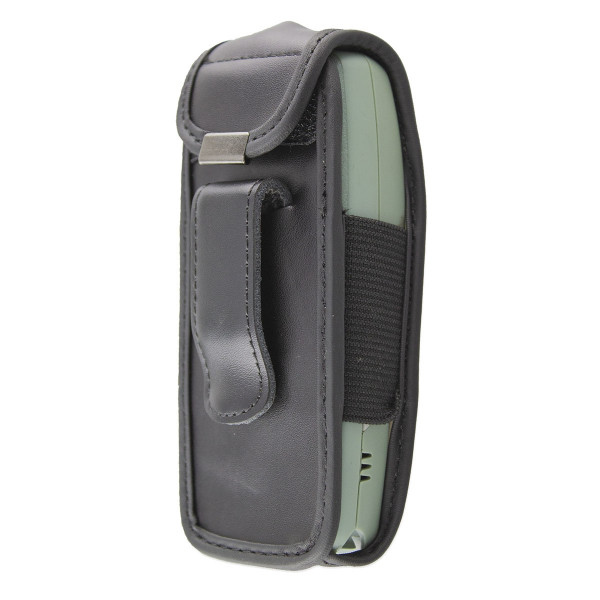 caseroxx Leather-Case with belt clip for Nokia 3410 made of genuine leather, mobile phone cover in black