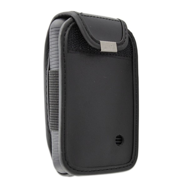 caseroxx Leather-Case with belt clip for Dexcom G6 made of genuine leather, mobile phone cover in black