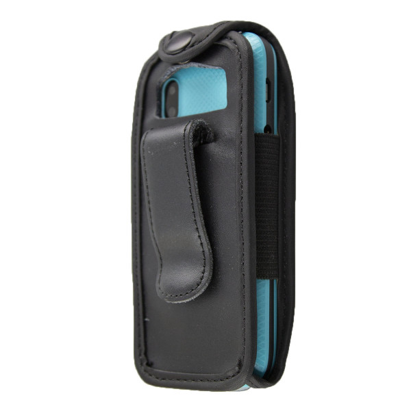 caseroxx Leather-Case with belt clip for Wiko Lubi 3 made of genuine leather, mobile phone cover in black