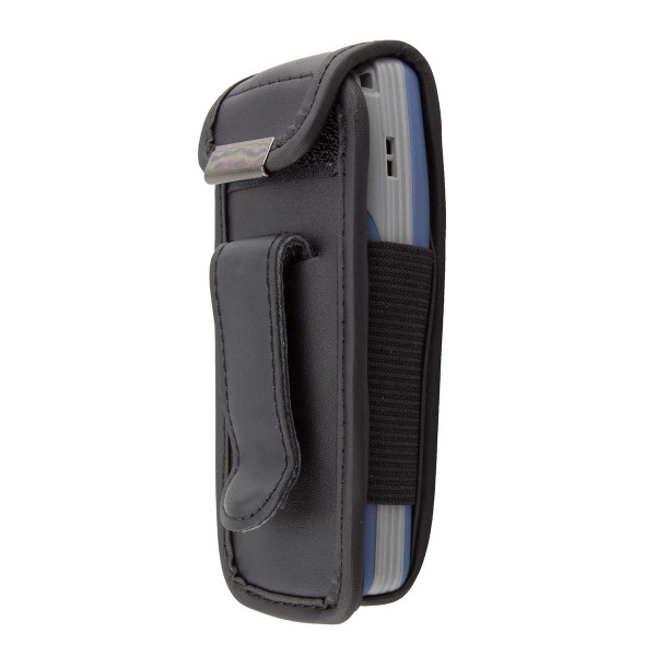 caseroxx Leather-Case with belt clip for Nokia 1100 / 1101 made of genuine leather, mobile phone cover in black
