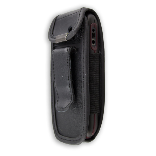caseroxx Leather-Case with belt clip for Nokia 1661 / 1662 made of genuine leather, mobile phone cover in black